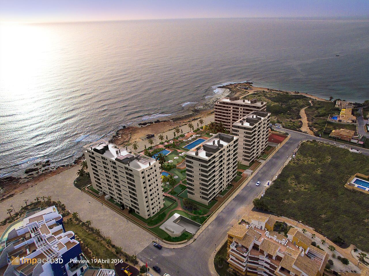 Luxury frontline apartments for sale in Punta Prima,Torrevieja