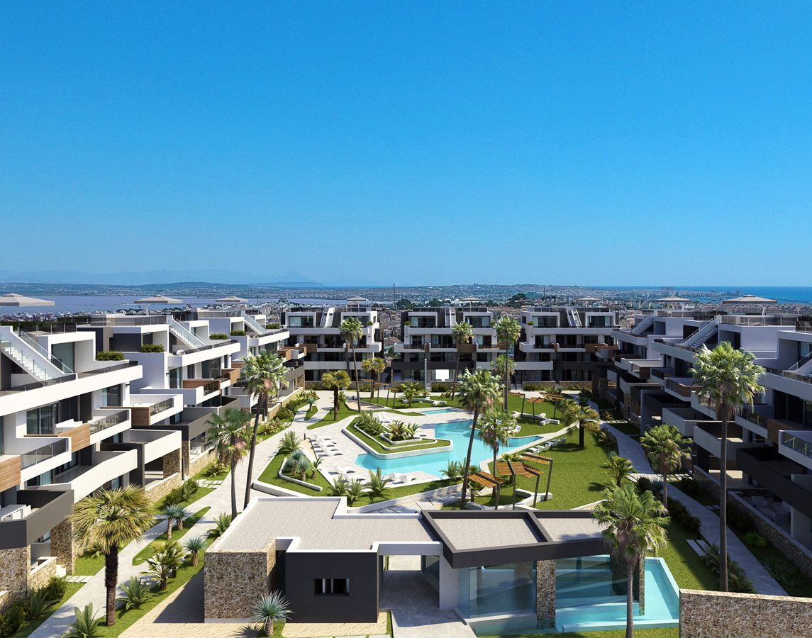Spacious and bright new building apartments in Orihuela Costa,Alicante