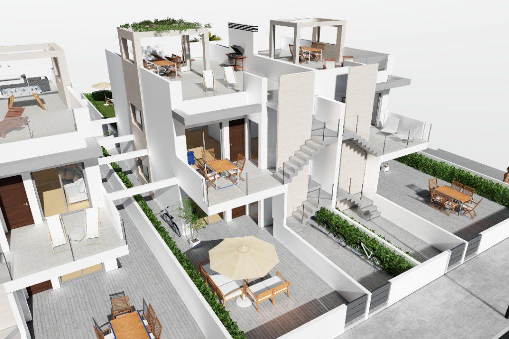 Casas de nueva construcción en Punta Prima