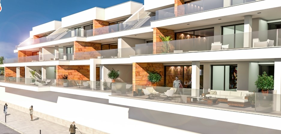 Modern Terrace Apartments for golf lovers in Villamartin