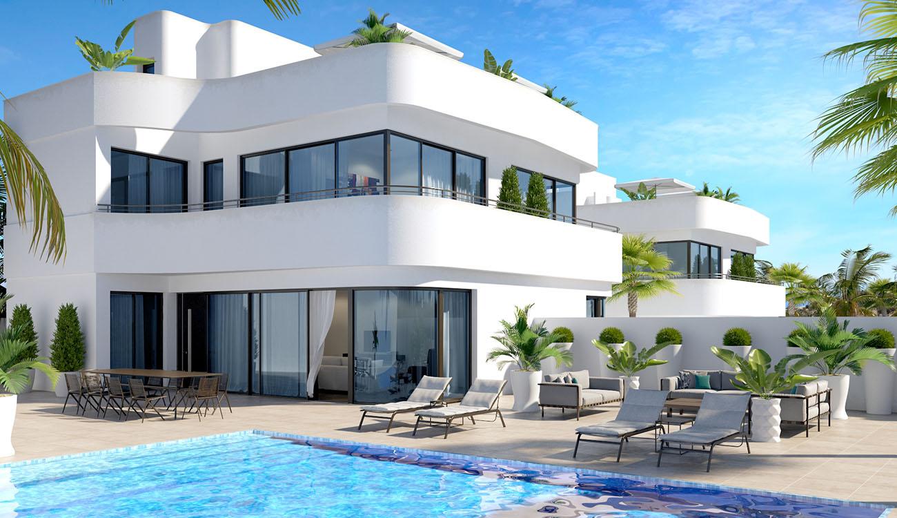 Nuevas villas modernas en venta en La Marina