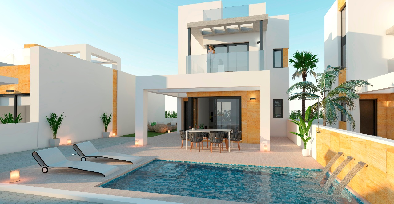 New Villas with private pool in Torrevieja