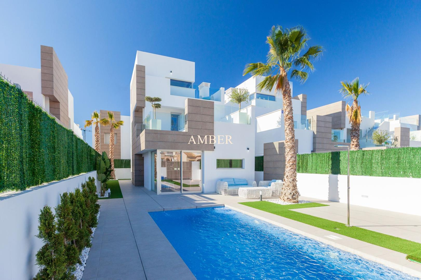 New modern villas with private pool for sale, El Raso, Alicante