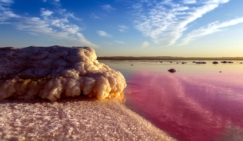 Torrevieja city has a huge pink lagoon