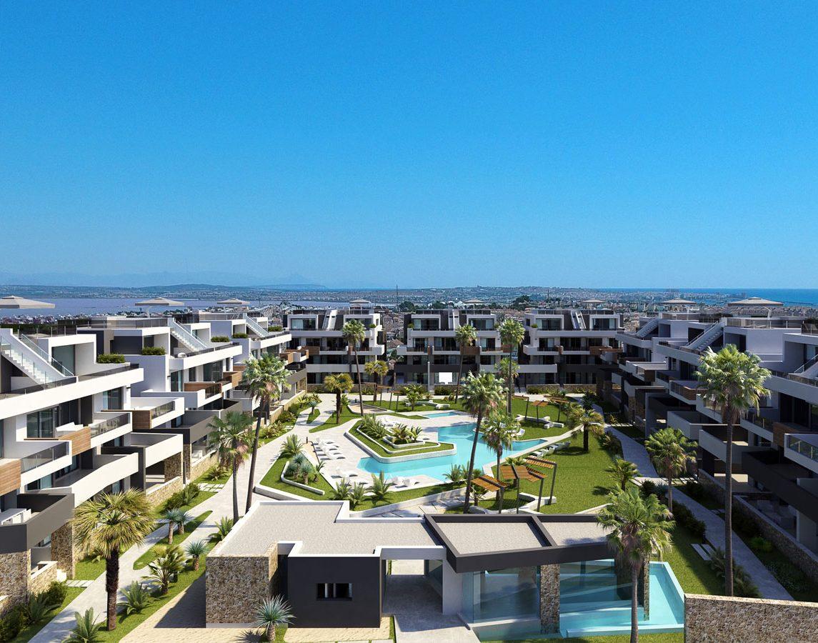 Просторные и светлые новые апартаменты в Ориуэла Коста, Аликанте