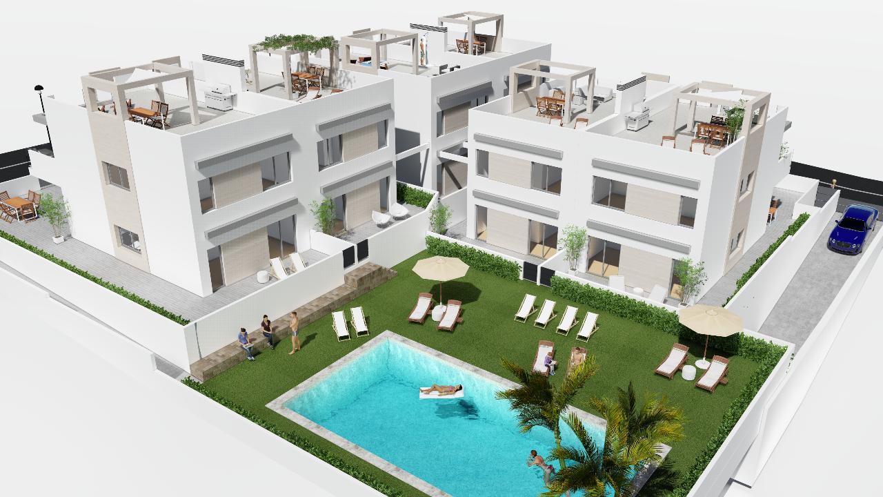 Casas de nueva construcción en Punta Prima,Torrevieja,Alicante