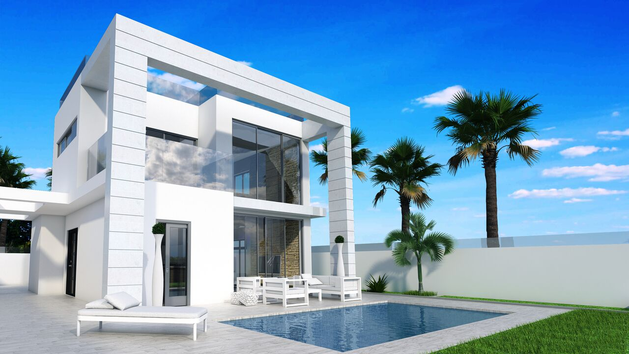 New modern exclusive Villas in Campoamor for sale
