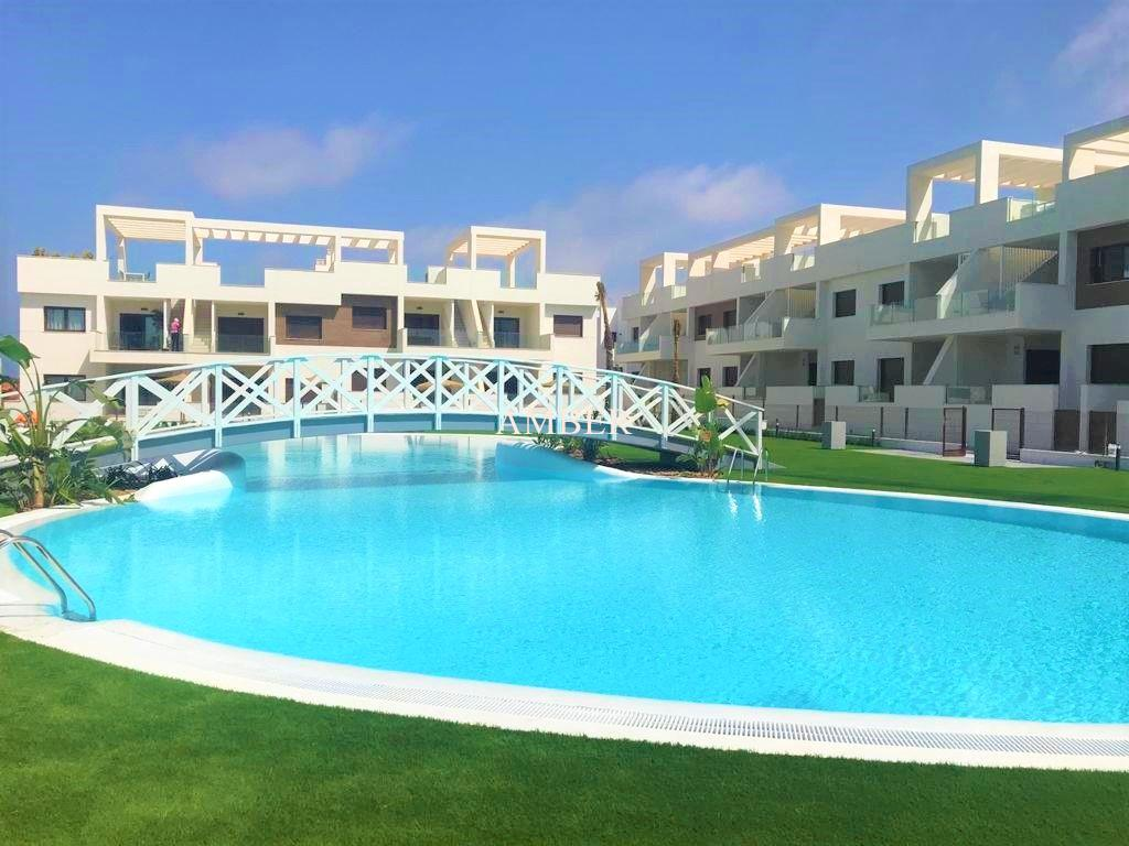 New terraced apartments in a closed urbanisation, Los Balcones, Torrevieja