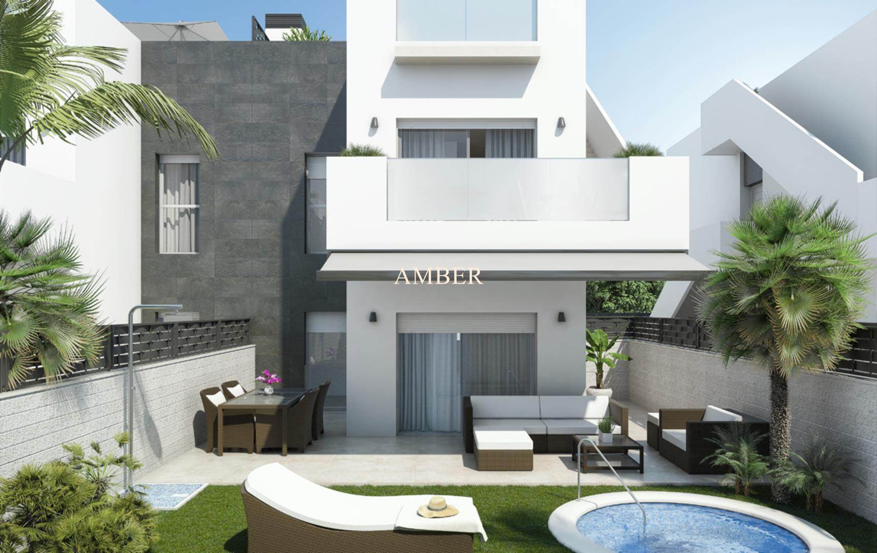 New houses for sale in residential complex with swimming pool, Ciudad Quesada